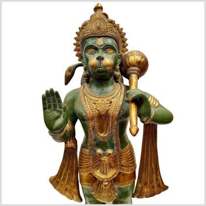 Hanuman stehend Messing Nahansicht