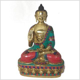 Segnender Buddha 10kg 40cm Steine Vorderansicht