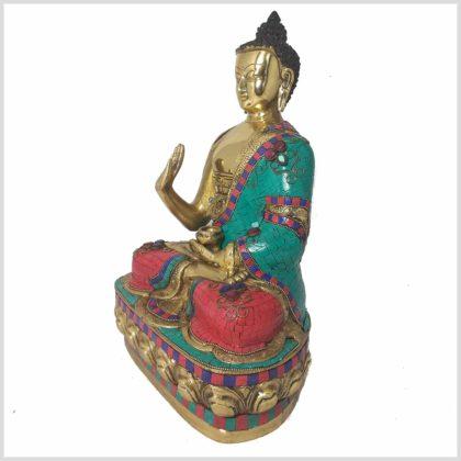 Segnender Buddha 10kg 40cm Steine Seitenansicht Links