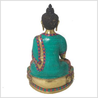 Segnender Buddha 10kg 40cm Steine Hinten