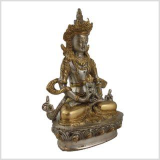Amithaba 1,9kg 22cm versilbert Seite rechts