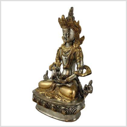 Amithaba 1,9kg 22cm versilbert Seite links