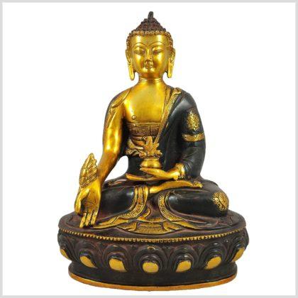 Bhaisajyaguru Asthamangala Medizinbuddha auf Podest 4kg 33cm