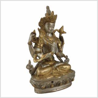 Avalokiteshvara 1,8kg Messing versilbert Seite