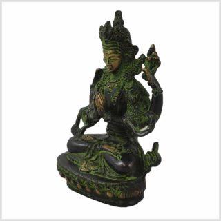 Avalokiteshvara 650g grünantik Seite links