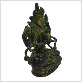 Avalokiteshvara 650g grünantik Seite rechts