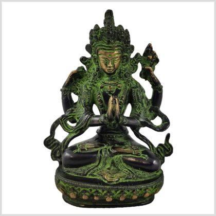 Avalokiteshvara 650g grünantik vorne