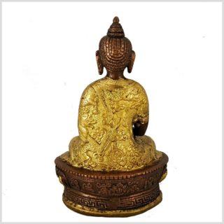 Erleuchteter Buddha Dragon verkupfert Rücken