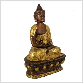 Erleuchteter Buddha Dragon verkupfert Seitenansicht