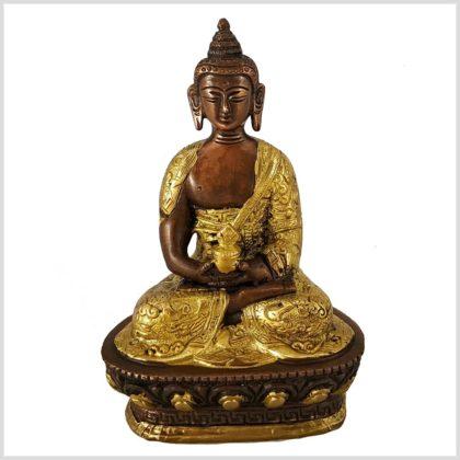 Erleuchteter Buddha Dragon verkupfert Vorderansicht