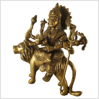 Durga 19cm Messing Seitenansicht Links
