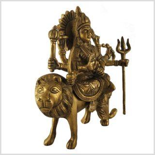Durga 19cm Messing Seitenansicht