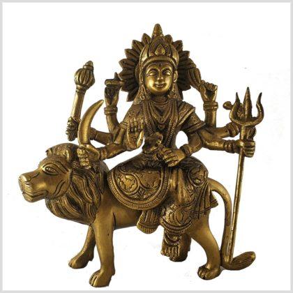 Durga 19cm Messing Vorderansicht