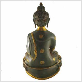 Erdender Buddha Asthamangala 8kg Nepalgrün Rücken