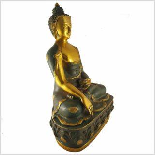 Erdender Buddha Asthamangala 8kg Nepalgrün Seitenansicht