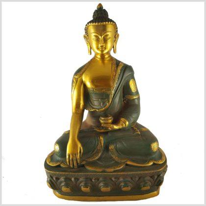 Erdender Buddha Asthamangala 8kg Nepalgrün Vordergrün
