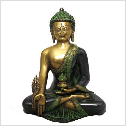 Medizinbuddha grüngold Vorderansicht
