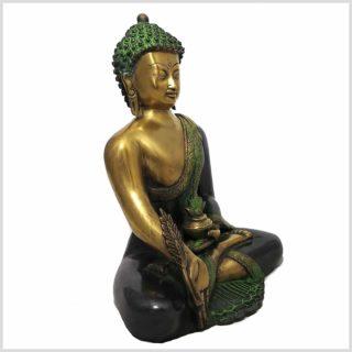 Medizinbuddha grüngold Seitenansicht