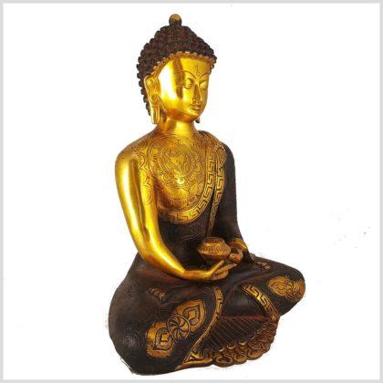 Erleuchteter Buddha Asthamangala Seitenansicht