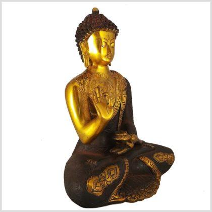 Lehrender Buddha Asthamangala 5,7kg Seitenansicht