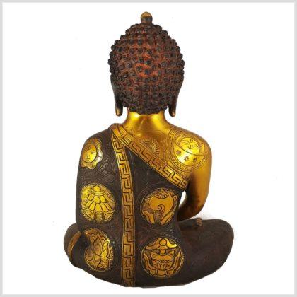 Lehrender Buddha Asthamangala 5,7kg Rücken