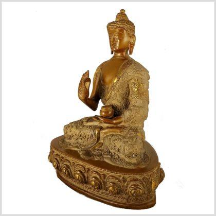 Lehrender Buddha Messing sandbeige 2,8kg Seitenansicht Links
