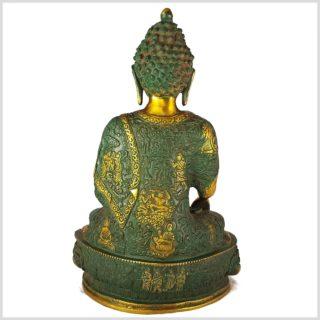 Medizinbuddha antikgrün 33cm Rücken