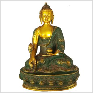 Medizinbuddha antikgrün 33cm Vorderansicht