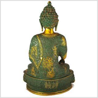 Lehrender Buddha Nepalgrünantik Rücken