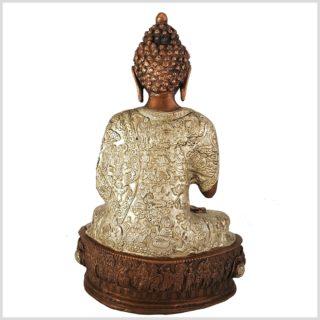 Lehrender Buddha Kupfer 33cm 4kg Rücken