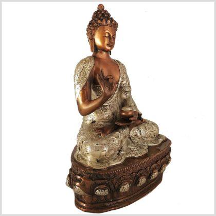 Lehrender Buddha Kupfer 33cm 4kg Seitenansicht