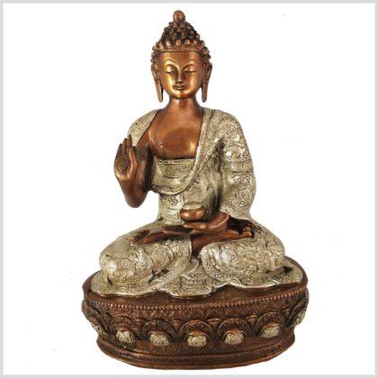 Lehrender Buddha Kupfer 33cm 4kg Vorderansicht