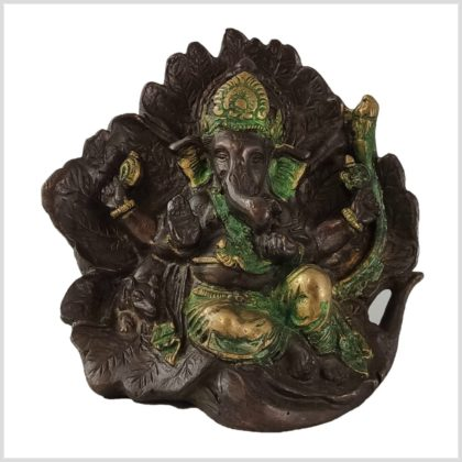 Lotus Ganesha Kupferantik Vorne