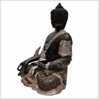 Medizinbuddha 6,1kg Silberschwarz Seitenansicht