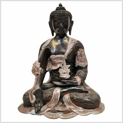 Medizinbuddha 6,1kg Silberschwarz Vorderansicht