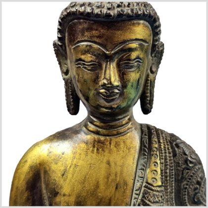 Nepalesicher Buddha Feuerverbrannt 25cm Gesicht