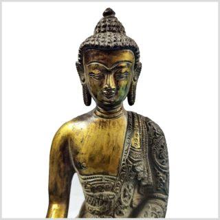 Nepalesicher Buddha Feuerverbrannt 25cm Oberkörper
