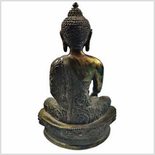 Nepalesicher Buddha Feuerverbrannt 25cm Rücken