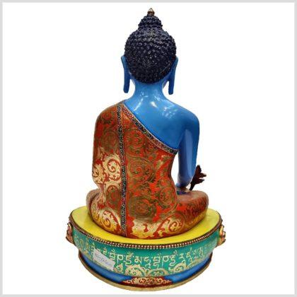 Medizinbuddha Kupfer Handarbeit Blau Rücken