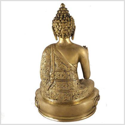 Segnender Buddha 3,5kg Messing Hinten