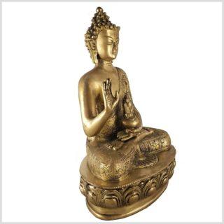 Segnender Buddha 3,5kg Messing Seitenansicht Rechts