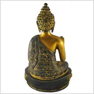 Segnender Buddha 3,5kg Messing antik Hinten