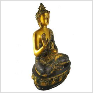 Segnender Buddha 3,5kg Messing antik Seitenansicht Rechts
