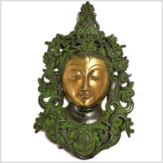 Tara Gesicht Wandbehang grüngold