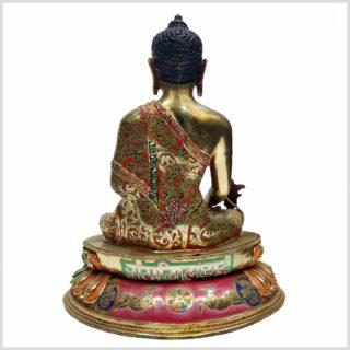 Medizinbuddha auf Podest Rücken