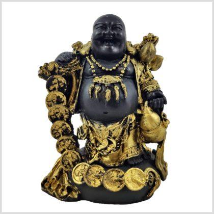Lachender Buddha mit Münzen Vorderansicht