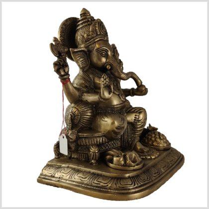 Sitzender Ganesha Messing 5,2kg Seite rechts