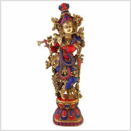 Krishna Messing 16kg rotblau Vorne