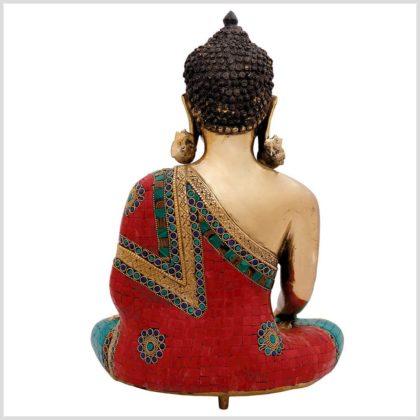 Bhumisparsa Mudra Buddha Steinarbeiten 13kg 51cm 1