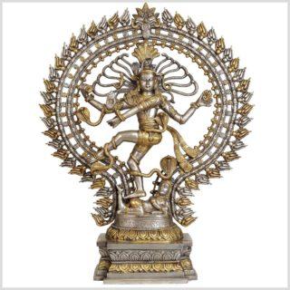 Tanzender Shiva Messing versilbert